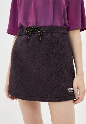 Юбка adidas Originals SKIRT. Цвет: фиолетовый