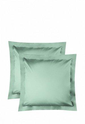 Комплект наволочек Bellehome Стефания Tiffany, 70х70. Цвет: зеленый