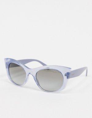 Лавандовые солнцезащитные очки кошачий глаз -Фиолетовый Vogue