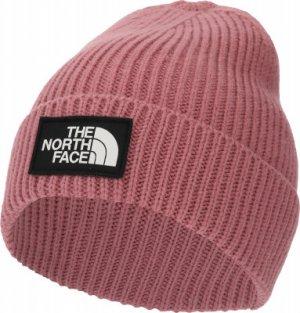 Шапка Logo Box Cuffed Beanie The North Face. Цвет: розовый