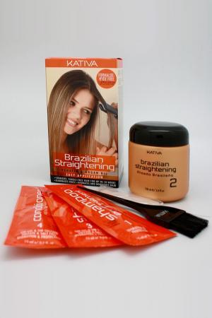 Кератиновое выпрямление волос Kativa. Цвет: бежевый