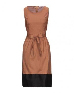 Платье до колена CARACTÈRE. Цвет: коричневый