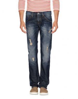 Джинсовые брюки FREESOUL. Цвет: синий