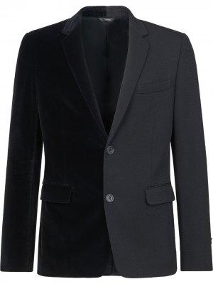 Бархатный пиджак Fendi. Цвет: черный