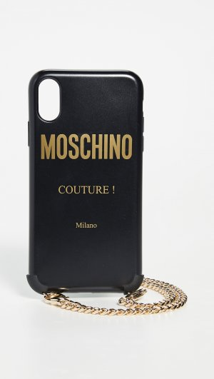 Fantasy Print iPhone X/XS Case with Chain Moschino