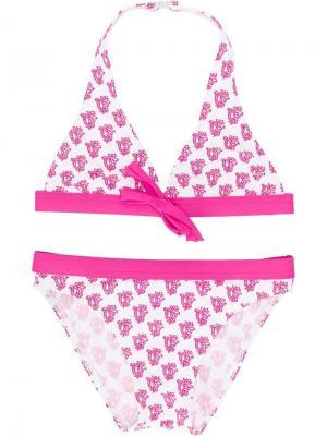 Купальник-бикини с принтом Elizabeth Hurley Beach Kids. Цвет: розовый