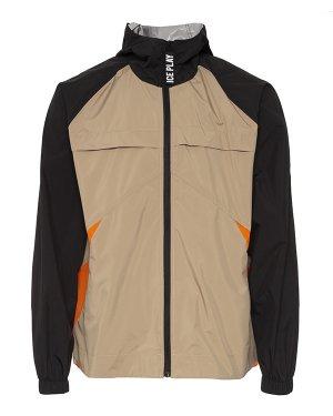 Куртка-ветровка U1MO041 50 бежевый+черный Ice Play. Цвет: бежевый+черный