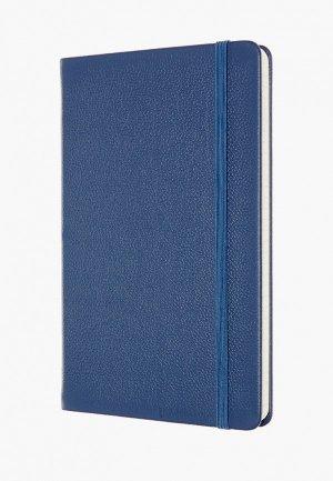 Блокнот Moleskine LIMITED EDITION LEATHER. Цвет: синий
