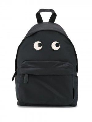 Рюкзак с вышивкой Eyes Anya Hindmarch. Цвет: черный