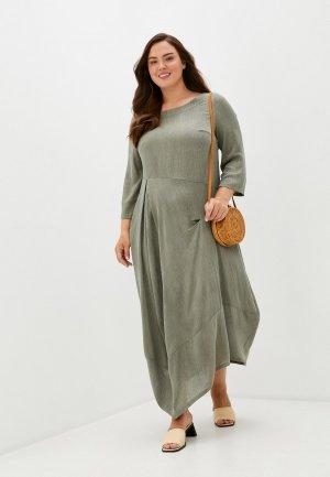 Платье Kata Binska. Цвет: хаки