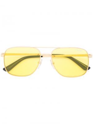 Солнцезащитные очки-авиаторы Vogue. Цвет: жёлтый и оранжевый