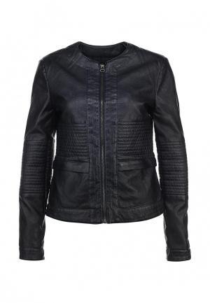 Куртка кожаная Baon. Цвет: синий
