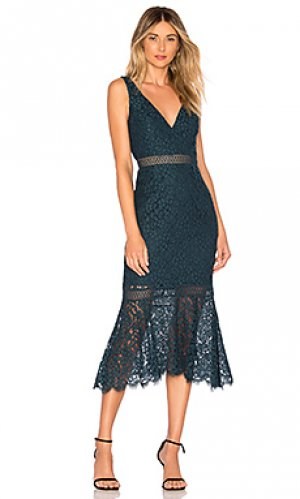 Платье sienna Bardot. Цвет: бирюзовый