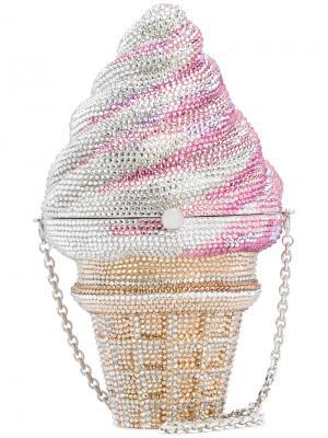 Сумка Ice Cream Cone Judith Leiber Couture. Цвет: металлический