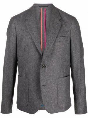 Пиджак строгого кроя PS Paul Smith. Цвет: серый