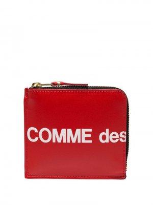 Кошелек с логотипом Comme Des Garçons Wallet. Цвет: красный