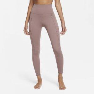Женские слегка укороченные леггинсы Yoga - Пурпурный Nike
