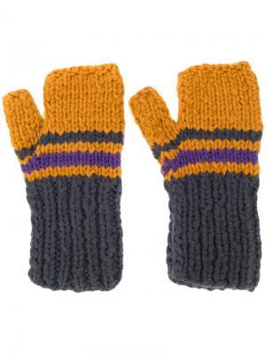 Перчатки в полоску без пальцев Maison Margiela. Цвет: многоцветный
