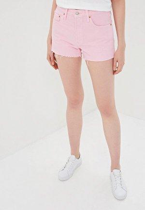 Шорты джинсовые Levis® Levi's® 501® High Rise. Цвет: розовый