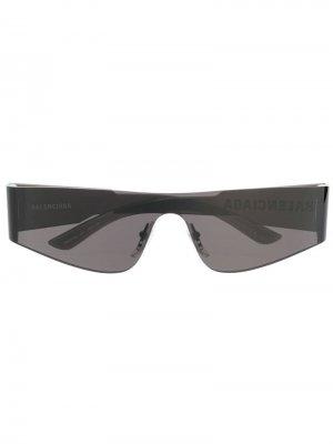 Солнцезащитные очки без оправы Balenciaga Eyewear. Цвет: черный