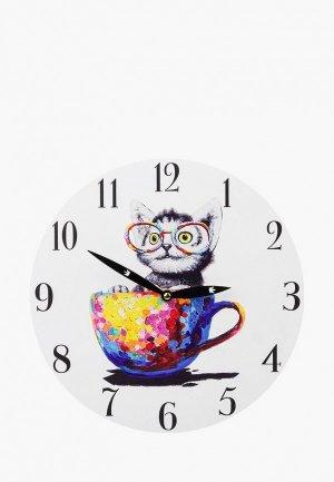 Часы настенные Elan Gallery 30 см. Цвет: белый