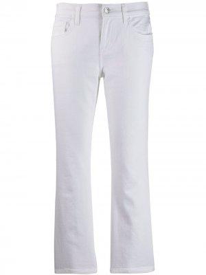 Укороченные расклешенные джинсы Current/Elliott. Цвет: белый