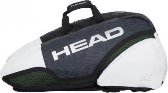 Сумка для 9 ракеток Djokovic 9R Supercombi Head. Цвет: черный