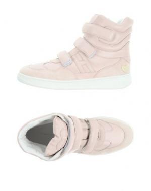 Высокие кеды и кроссовки KATIE GRAND LOVES HOGAN. Цвет: светло-розовый