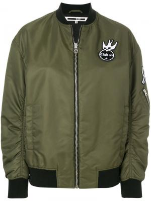 Куртка-бомбер Swallow с заплатками McQ Alexander McQueen. Цвет: зелёный