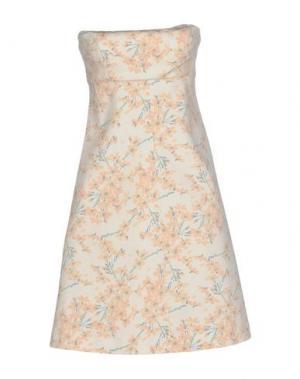 Короткое платье FAIRLY. Цвет: слоновая кость