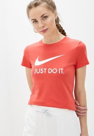 Футболка Nike W NSW TEE JDI SLIM. Цвет: коралловый