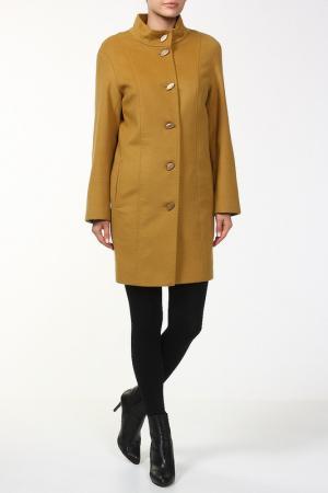 Пальто Карина Веталика. Цвет: желтый