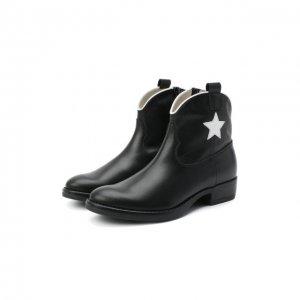 Кожаные ботинки Il Gufo. Цвет: чёрный