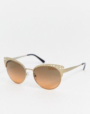 Солнцезащитные очки кошачий глаз Michael Kors-Золотой Kors
