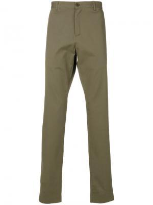 Классические брюки чинос A.P.C.. Цвет: зеленый