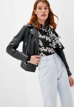 Куртка кожаная Blouson H CHIODO. Цвет: черный