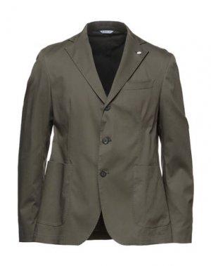 Пиджак MANUEL RITZ. Цвет: зеленый-милитари