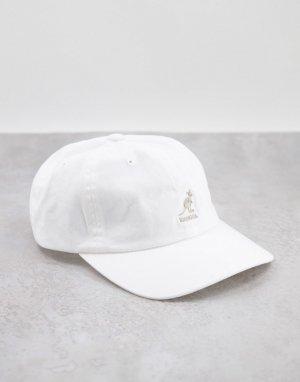 Белая выбеленная бейсболка -Белый Kangol