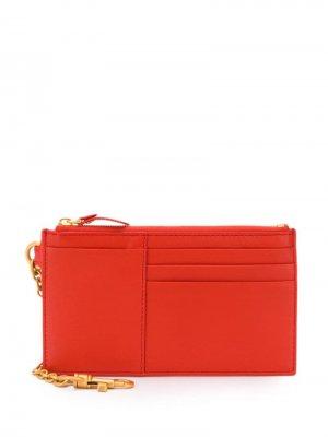 Ключница на молнии Bottega Veneta. Цвет: красный