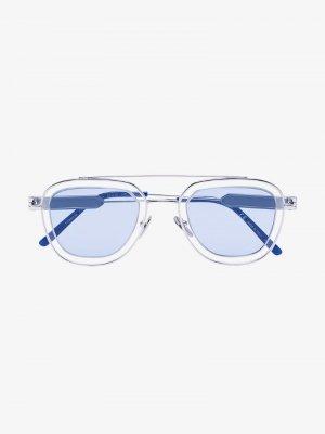 Солнцезащитные очки-авиаторы Calvin Klein 205W39nyc. Цвет: синий