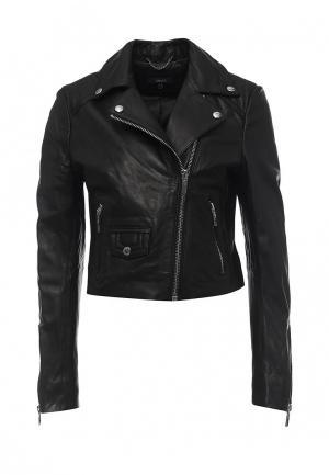 Куртка кожаная Arma AR020EWQOF33. Цвет: черный