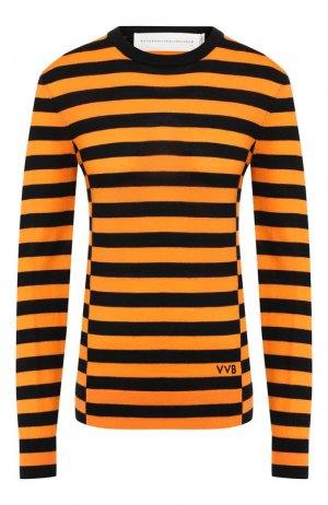 Шерстяной пуловер Victoria, Victoria Beckham. Цвет: желтый