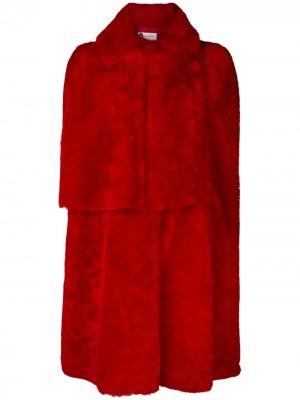 Shearling cape LANVIN. Цвет: красный