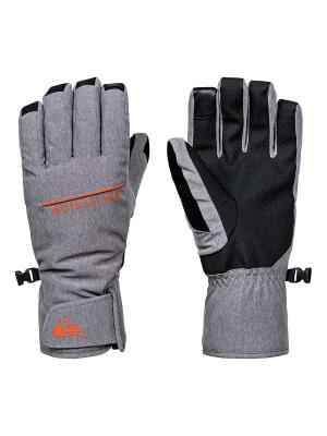Перчатки Quiksilver. Цвет: серый, светло-серый, серый меланж
