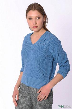 Пуловер Set. Цвет: синий