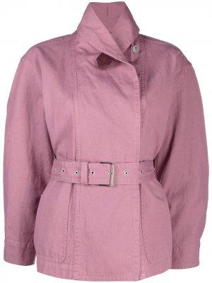 Джинсовая куртка Prunille с поясом Isabel Marant Étoile. Цвет: розовый