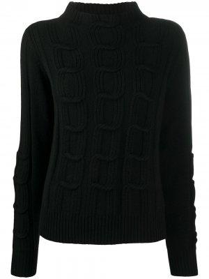 Джемпер фактурной вязки D.Exterior. Цвет: черный
