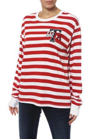 Пуловер Tommy Jeans. Цвет: 602, samba, bright white