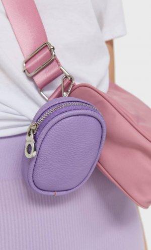 Кошелек Для Монет С Карабином Пурпурный 103 Stradivarius. Цвет: пурпурный