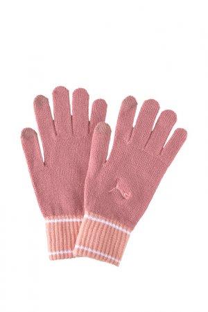 Перчатки Puma. Цвет: розовый